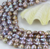 淡水の緩い真珠の繊維のサイズ15mmの等級AAの軽い孔雀のNulceatedの真珠の繊維