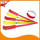Pulsera disponible por encargo de los Wristbands de la identificación del plástico de la hospitalidad profesional (E8020-40)