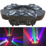 구입 9*10W LED 거미 이동하는 헤드 LED 빛