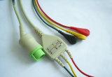 Kontron 12pin 3 Snap & Clip ECG Cable