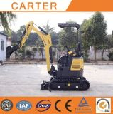 Estrutura de borracha de Tracks&Retractable para máquina escavadora da esteira rolante do Backhoe de CT16-9d (1.8t) a mini