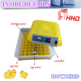 Hhd Automatic Mini Cheap 48 Egg Incubator für Chicken/Quail/Duck