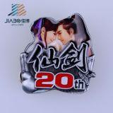 Stampa di stile cinese con il distintivo di pellicola su ordinazione a resina epossidica del Anime del metallo