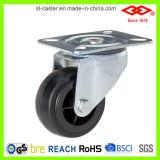 까만 고무 조정 격판덮개 피마자 바퀴 (D102-31C080X35)