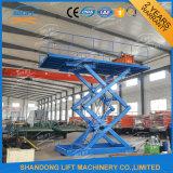 Het Ontwerp van de schaar en Lift van de Auto van de Schaar van het Type van Lift van Twee Cilinder de Hydraulische