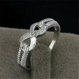 Anel clássico da infinidade da corda icónica da prata esterlina