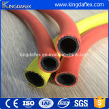 Boyau en caoutchouc jaune de l'eau d'air/boyau flexible gaz en caoutchouc