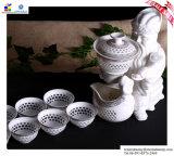 White Porcelain Kung Fu Tea Setをくり抜きなさい