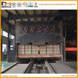 Cadena de producción hueco automática completa del ladrillo horno de túnel del ladrillo de la arcilla