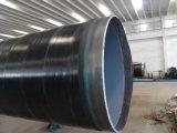 3PE cubrió espiral del API vio el tubo de acero