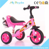3대의 타이어 1 프레임 2 페달 세발자전거 공장 생성 분홍색 세발자전거