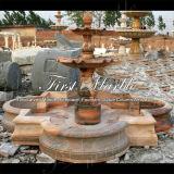 Fontana rossa Mf-1018 di Ny del giardino di pietra di marmo del granito