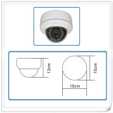 Caméra dôme antiviré à caméra de surveillance avec vision nocturne et lentille à focale variable