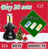 Faro LED H4 H7 H11 9005 del nuovo prodotto 9006 faro di 80W 8000lm per l'automobile/camion