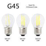 G45 Edison E27 lámpara E14 LED Filament regulable vela de cristal