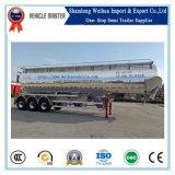 반 60cbm 3 차축 72t 알루미늄 두 배 오두막 부피 시멘트 수송 사일로 트레일러