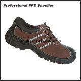 Baixas sapatas de segurança inferiores de aço do couro genuíno do corte