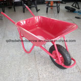 Colorful Trayの単一のWheel Wheelbarrow Wb5009