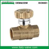 Großhandelsverschließbares Messingkugelventil mit Verschluss (AV1006)