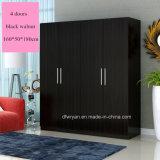 Noz clara/de noz/zebra noz preta Wardrobe de madeira real da placa de partícula da melamina da cor