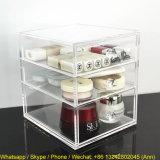 Acrílico encargo caja de cosméticos con 3 cajones