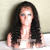 peruca cheia do laço da onda profunda do cabelo 100%Virgin humano