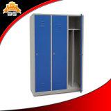 ドアが多彩カスタマイズした3つは積層の金属のコンパクトのロッカーをたたく