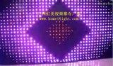 Rgb-volle Mischung färbt 3 * videovorhang-Licht DJ des 4 m-positionieren feuerfestes Samt-LED Erscheinen-Anblick