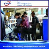 Machine à découper à la flamme à plasma à tube rond pour tubes en acier inoxydable pour la fabrication d'acier Kr-Xf8