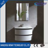 Оптовый шкаф ванной комнаты PVC белый самомоднейший с зеркалом
