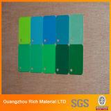 Покрасьте лист листа PMMA плексигласа пластичный акриловый