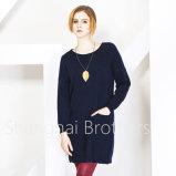 女性の円形の首のカシミヤ織のセーター(16brss113)