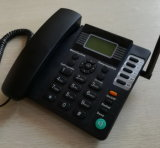 Teléfono análogo de GSM con el altavoz y el teléfono de la tabla de la identificación del llamador / GSM