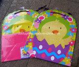 Die-Cut Diseño Glitter Feliz Pascua de vacaciones de impresión promocional regalo bolsas de papel