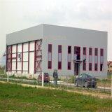 Het milieu Lichte PrefabPakhuis van de Structuur van het Staal met de Zaal van het Bureau