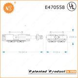 iluminação do retrofit do diodo emissor de luz da recolocação E39 E26 60W da lâmpada do lote de estacionamento 175W