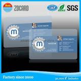Визитная карточка PVC дешевой таможни материальная прозрачная пластичная