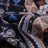 Шарф шали плащпалаты полиэфира хлопка Pashmina национального печатание типа цветастого сверхразмерный