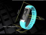 U9 BluetoothのIosのアンドロイドのための歩数計が付いているスマートな時計用バンドはBluetooth 4.0および0.91inchに電話をかける