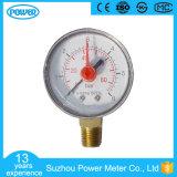 Calibre de pression en plastique de 2 po 50 mm avec pointeur rouge réglable
