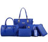 6PCS dans 1 Madame bon marché réglée Handbag, matériau d'emballage des prix de cuir de sac de femme
