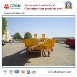 3-Axle niedriges Bett ISO-CCC 80t/Lowboy halb LKW-Schlussteil