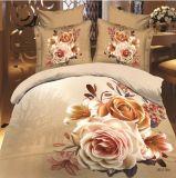 꽃은 4PCS 침대 시트 세트를 인쇄했다