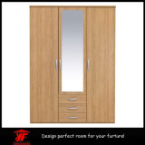 Mirror를 가진 거실 Furniture 가정 Closet 침실 Wall Wardrobe Design Simple Modern Wood Wardrobe