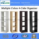As cores múltiplas dirigem o organizador/biblioteca/biblioteca da mobília 4-Cube para o armazenamento (Z150706-F)