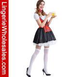 Oktoberfesr женщин сексуальное шнурует вверх Costume платья Cosplay вычуры девушки пива