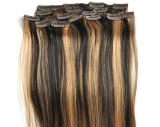 Straight di seta Hair Clip in Hair Extensions Piano Color Clip in Human Hair Extensions