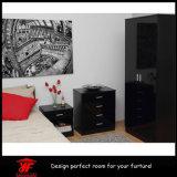 [إيوروبن] سوداء عال لمعان خزانة ثوب غرفة نوم أثاث لازم مجموعة