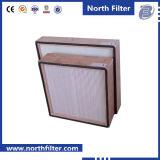 Глубок-Плиссируйте фильтр стеклянного волокна HEPA для очищения воздуха