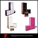 黒いミラーの光沢度の高い適正価格の家具のワードローブの寝室の家具セット